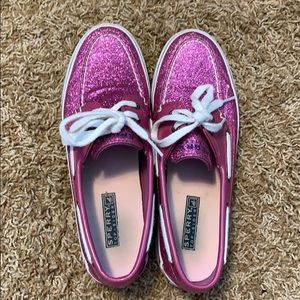 Pink Glitter Sperry Top Sider